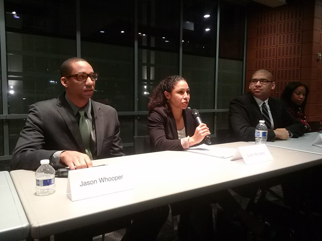 Panelists Jason Whooper, Leah Williams and Brad Muldrow provide insights from varying perspectives
