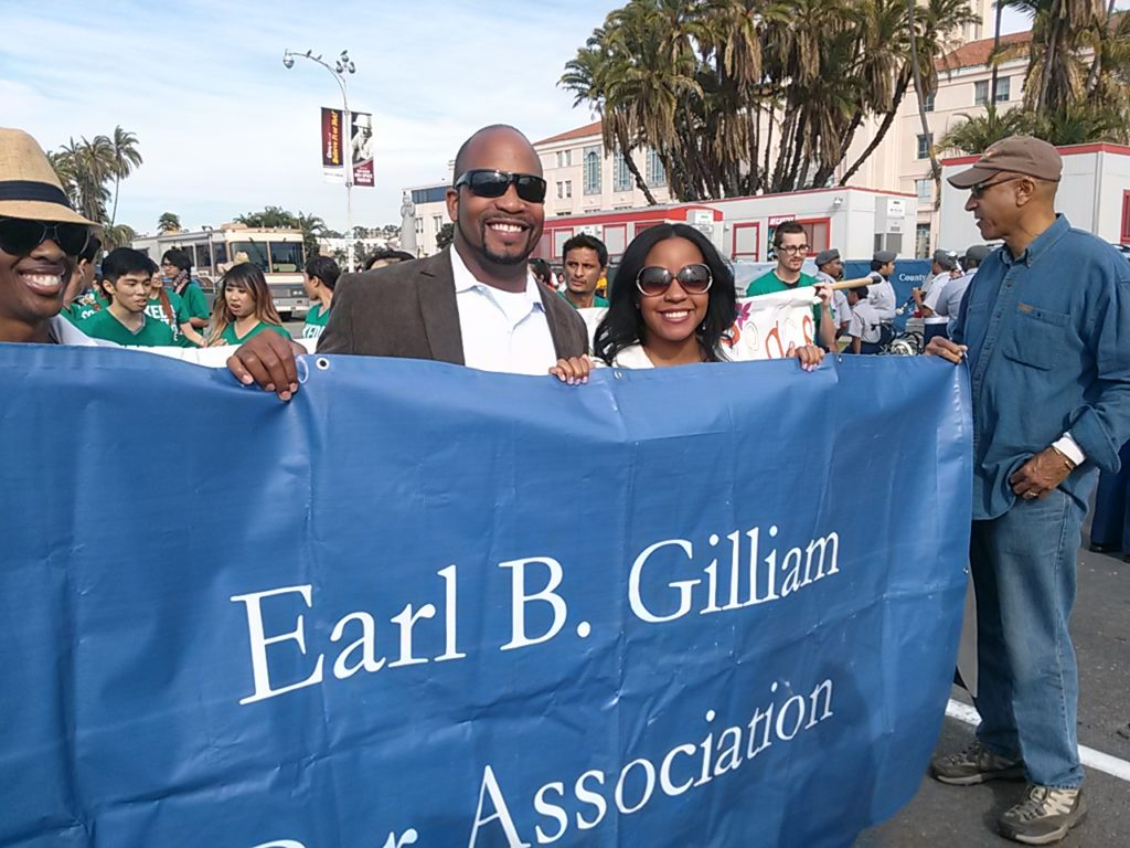 EBGBA Members prepare to march in the annual Martin Luther King Day Parade