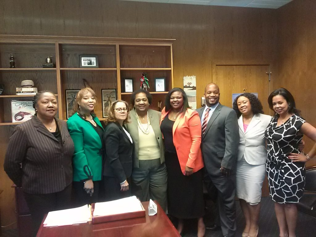 CABL Legislative committee members pose with San Diego Assemblymember Shirley Weber of the 79th Assembly District