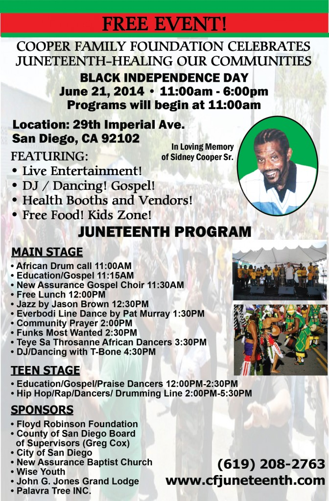 A family whose father was very good friends with Judge Gilliam is hosting San Diego's longest running Juneteenth celebration!