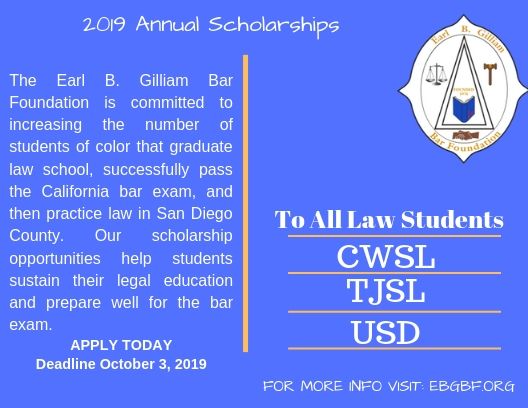 Annual Scholarships | Earl B  Gilliam Bar Foundation